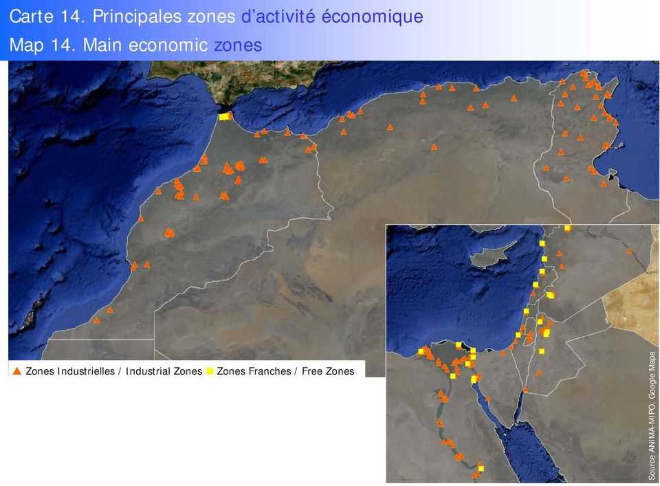 14. Main economic zones Zones Industrielles
