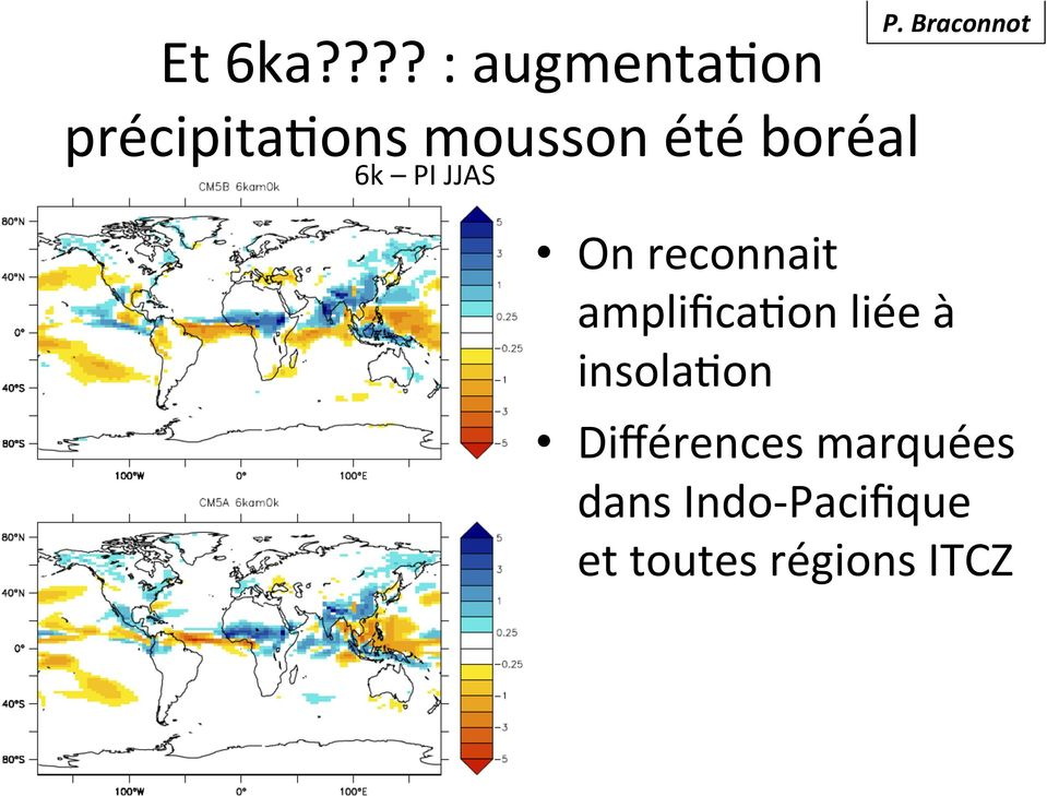 PI JJAS On reconnait amplifica0on liée à