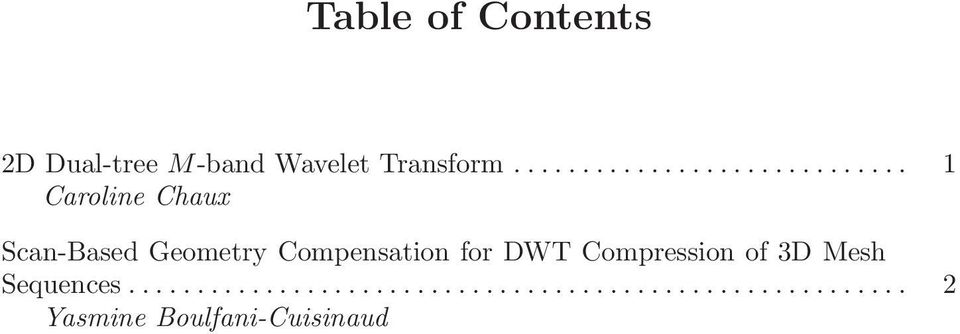 Compensation for DWT Compression of 3D Mesh Sequences.