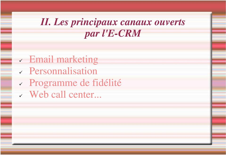 marketing Personnalisation