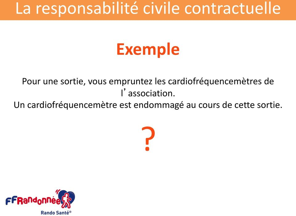 cardiofréquencemètres de l association.