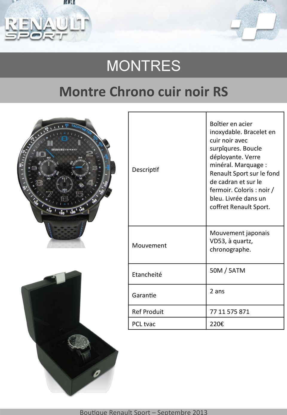 montres montre chrono acier noir rs pdf. Black Bedroom Furniture Sets. Home Design Ideas