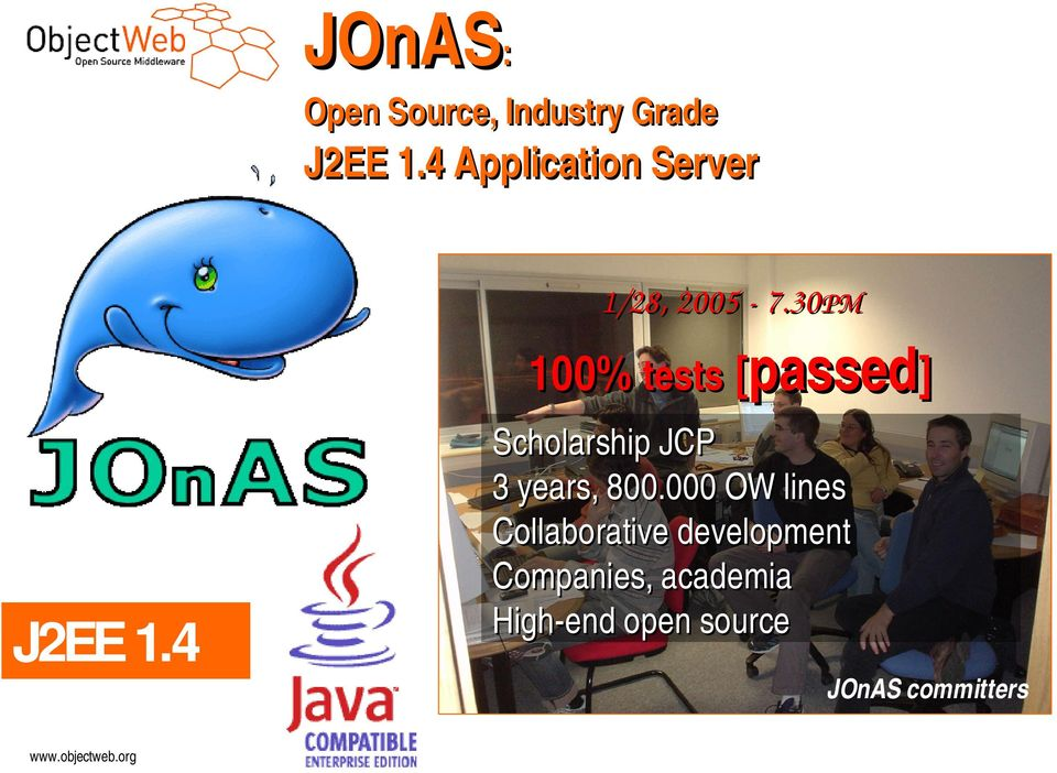 30PM 100% tests [passed] J2EE 1.