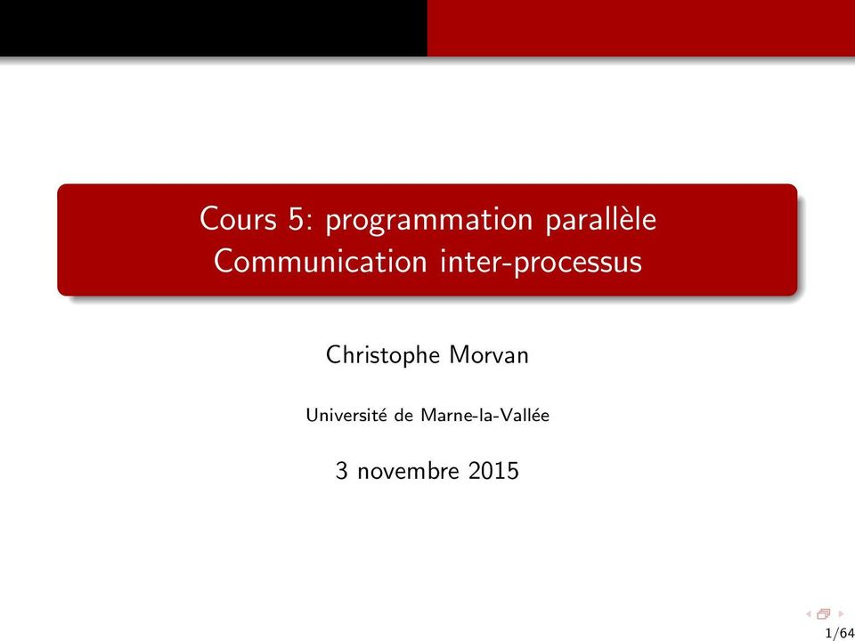 inter-processus Christophe