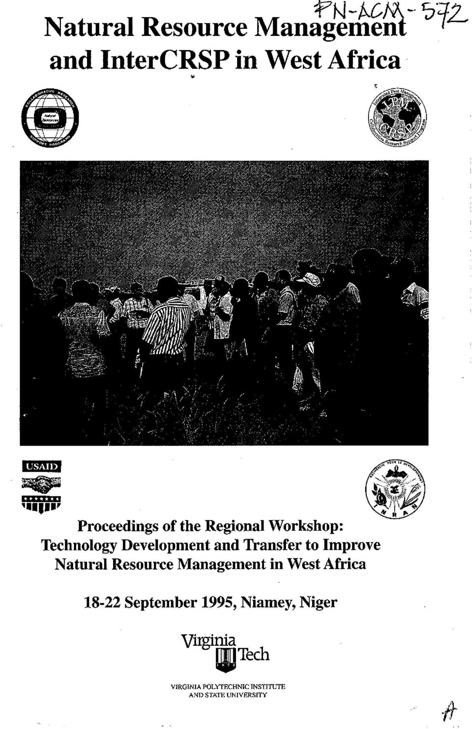 Improve Natural Resource Management in West Africa 18-22 September 1995,