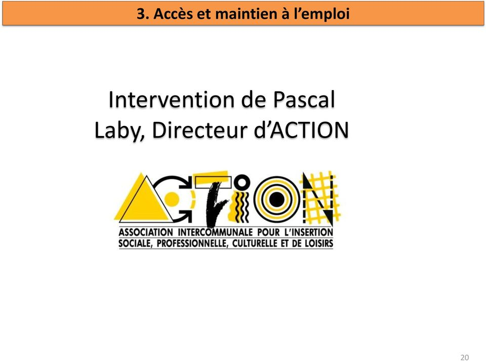 Intervention de