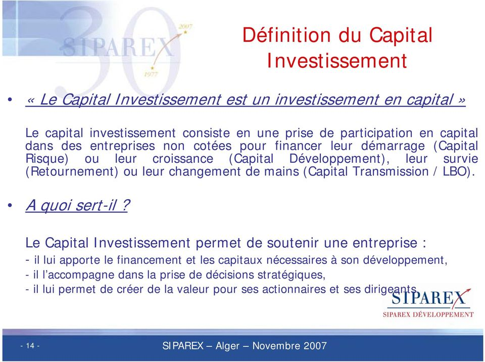 (Capital Transmission / LBO). Aquoisert-il?