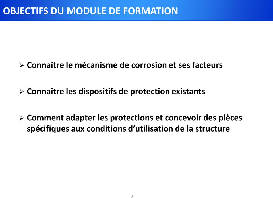 protection existants Comment adapter les protections et
