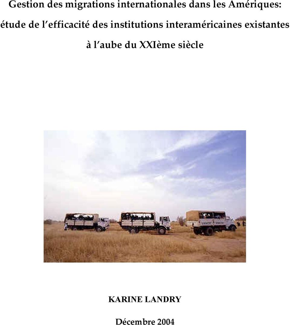 institutions interaméricaines existantes à l