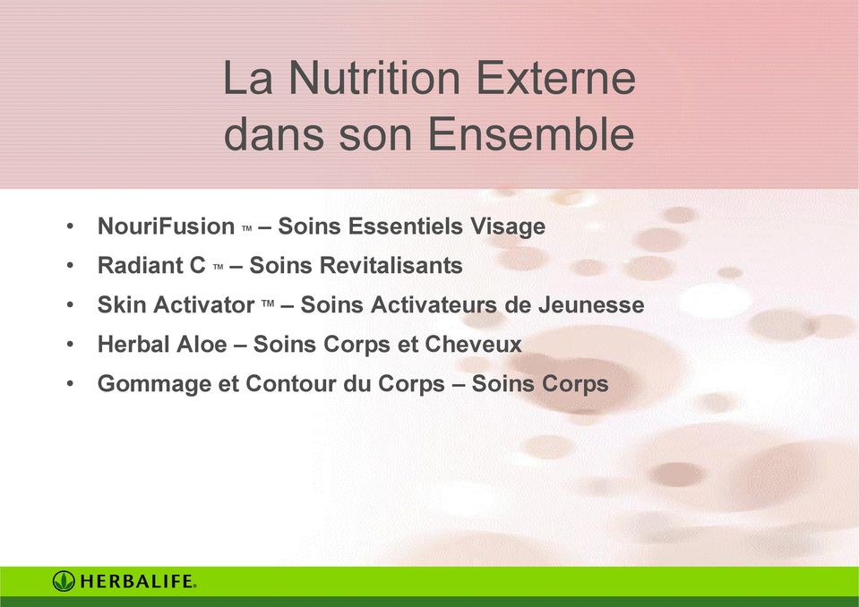 Activator TM Soins Activateurs de Jeunesse Herbal Aloe