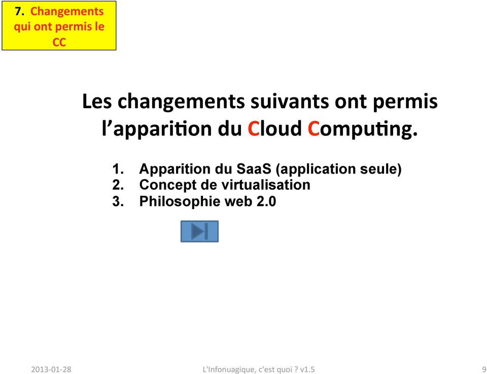Apparition du SaaS (application seule) 2.