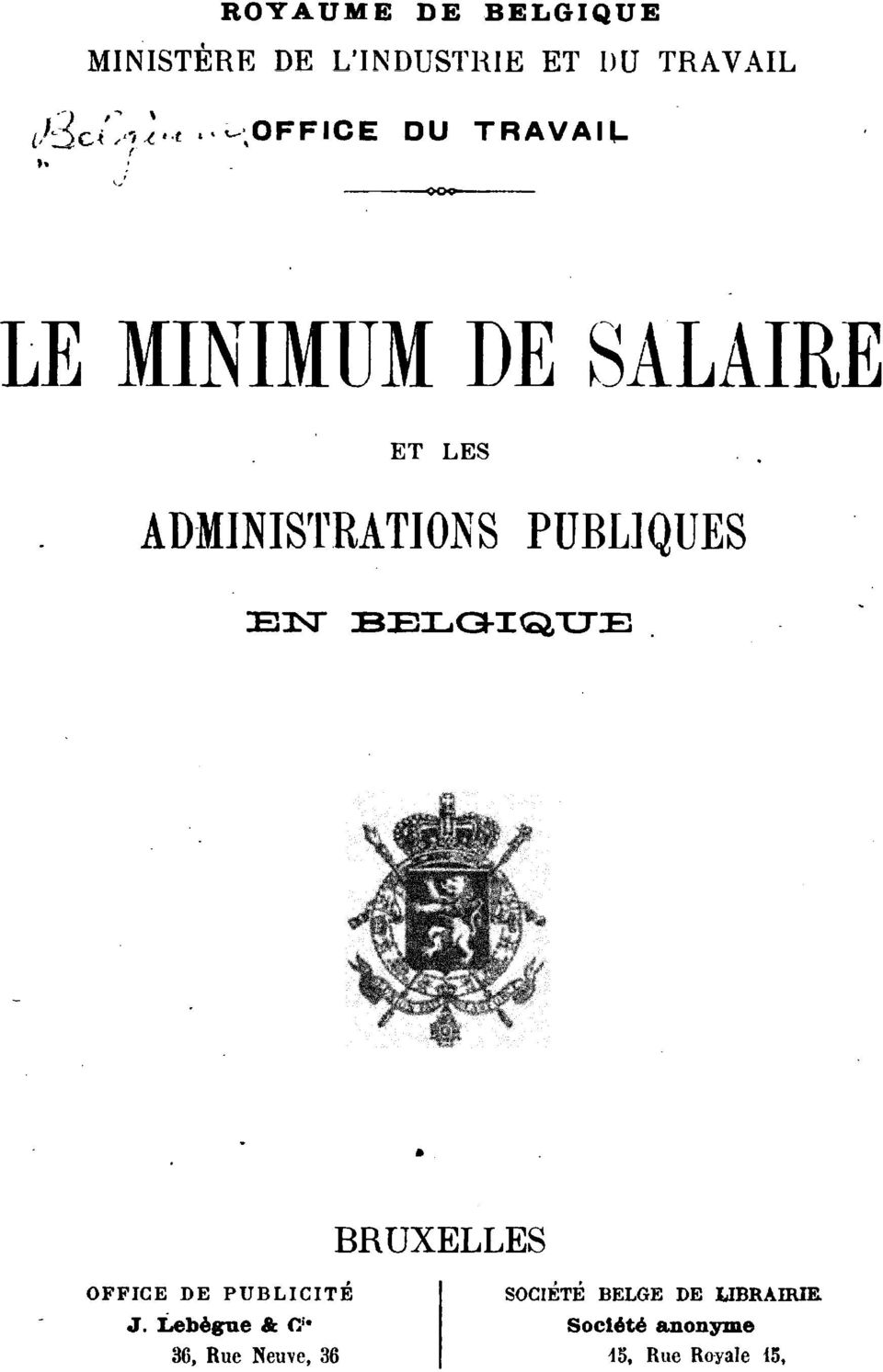 ?ffice DU TRAVAIL LE MINIMUM DE