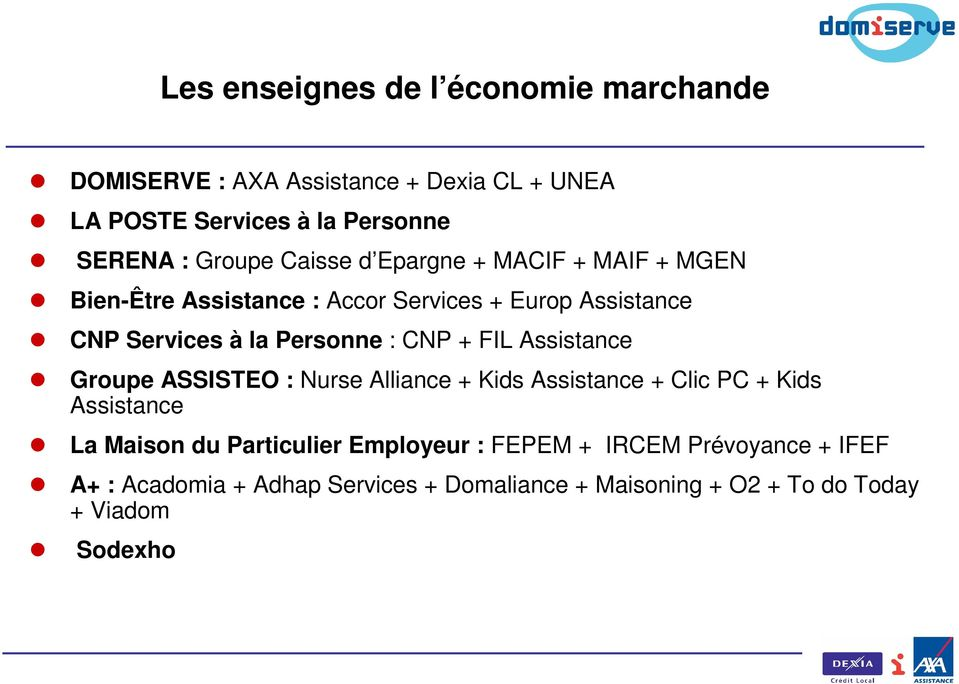 Personne : CNP + FIL Assistance Groupe ASSISTEO : Nurse Alliance + Kids Assistance + Clic PC + Kids Assistance La Maison du