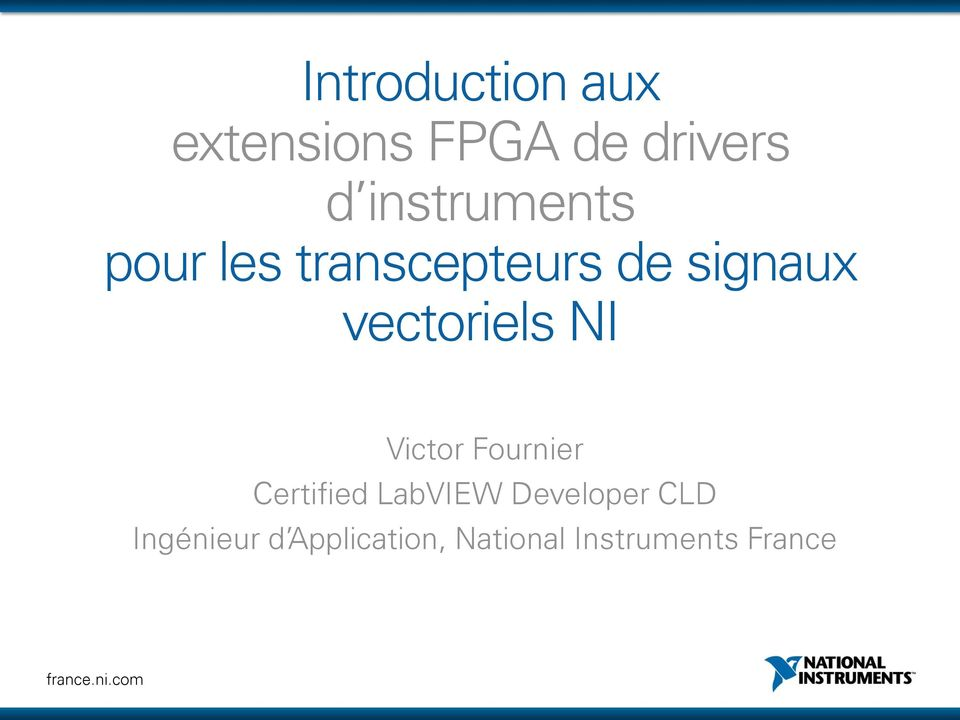 vectoriels NI Victor Fournier Certified LabVIEW