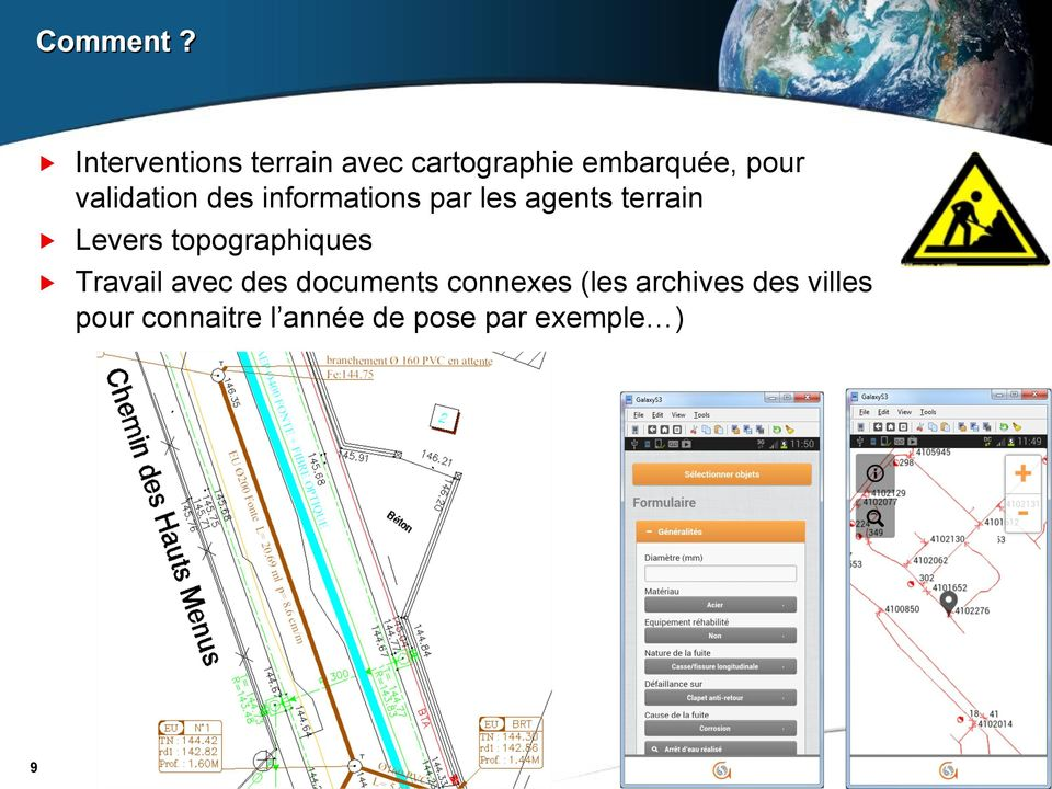 validation des informations par les agents terrain Levers