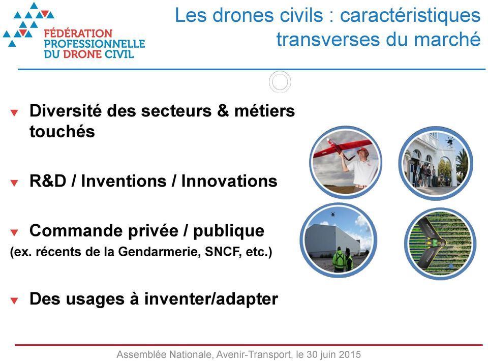 Inventions / Innovations Commande privée / publique (ex.