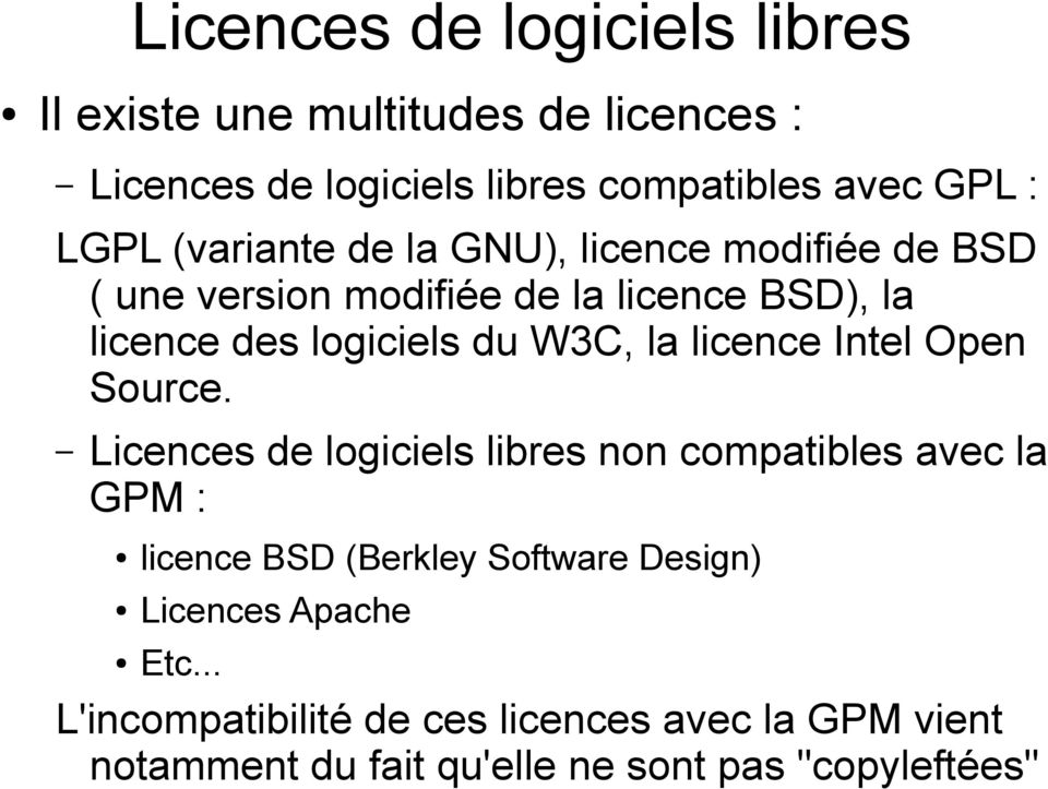 licence Intel Open Source.