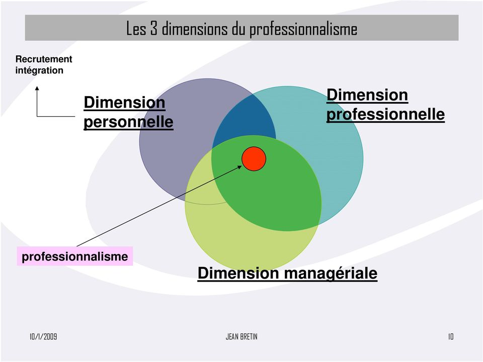 personnelle Dimension professionnelle
