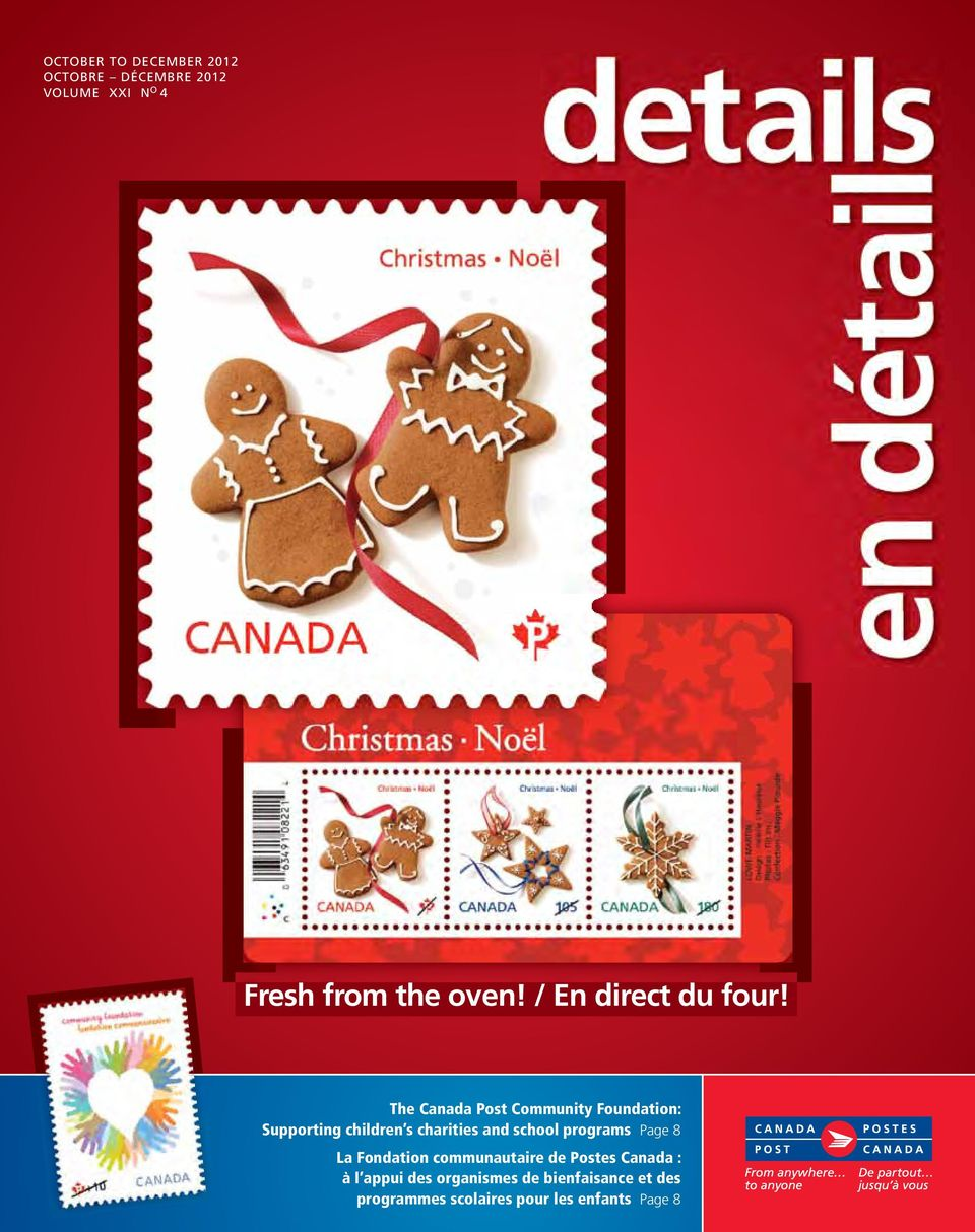 The Canada Post Community Foundation: Supporting children s charities and school