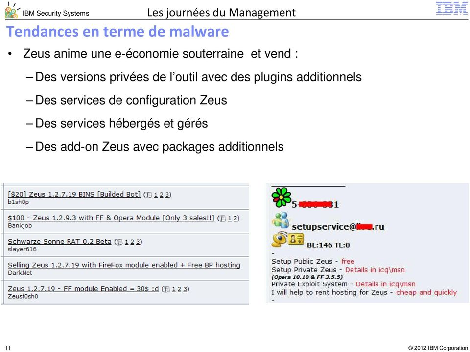 plugins additionnels Des services de configuration Zeus Des