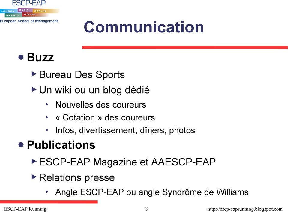 divertissement, dîners, photos Publications ESCP-EAP Magazine