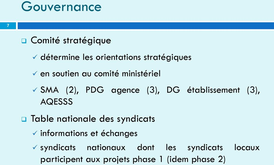 AQESSS Table nationale des syndicats informations et échanges syndicats