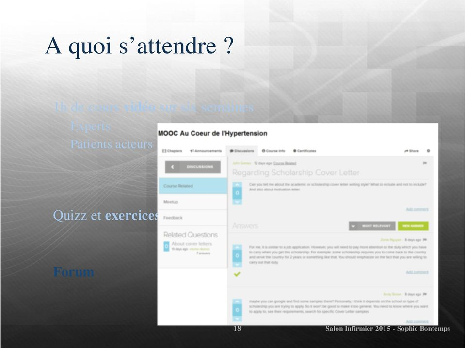 Experts Patients acteurs Quizz et