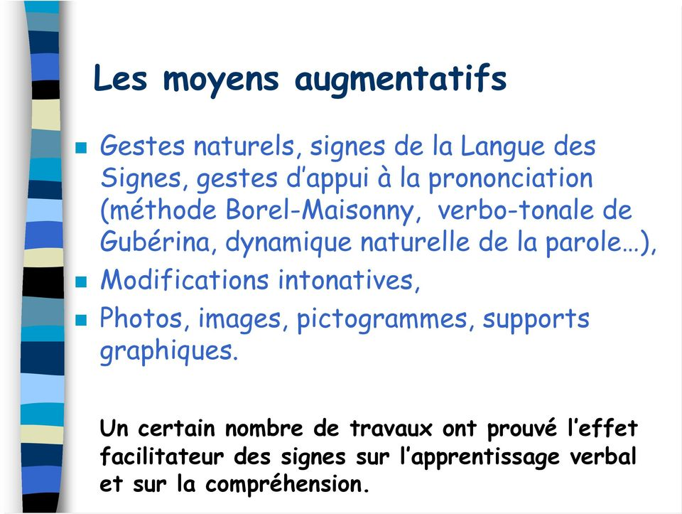 ), Modifications intonatives, Photos, images, pictogrammes, supports graphiques.