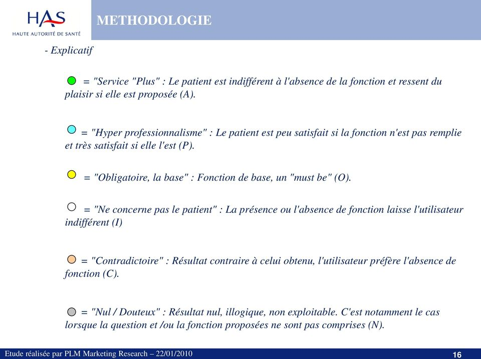 "= ""Obligatoire, la base"" : Fonction de base, un ""must be"" (O)."