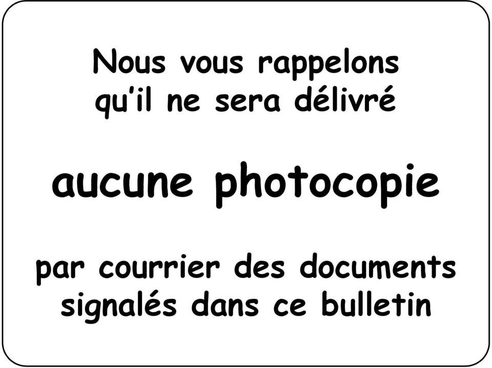 photocopie par courrier des
