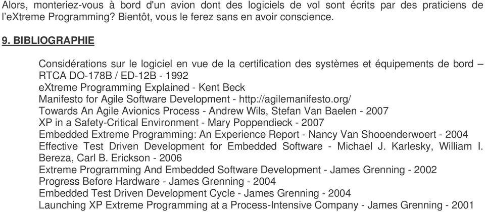 Software Development - http://agilemanifesto.