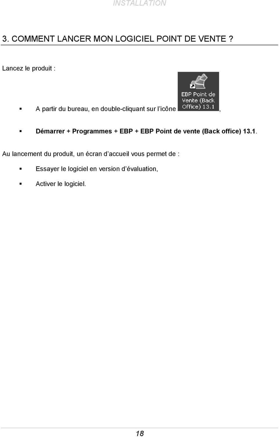 Programmes + EBP + EBP Point de vente (Back office) 13
