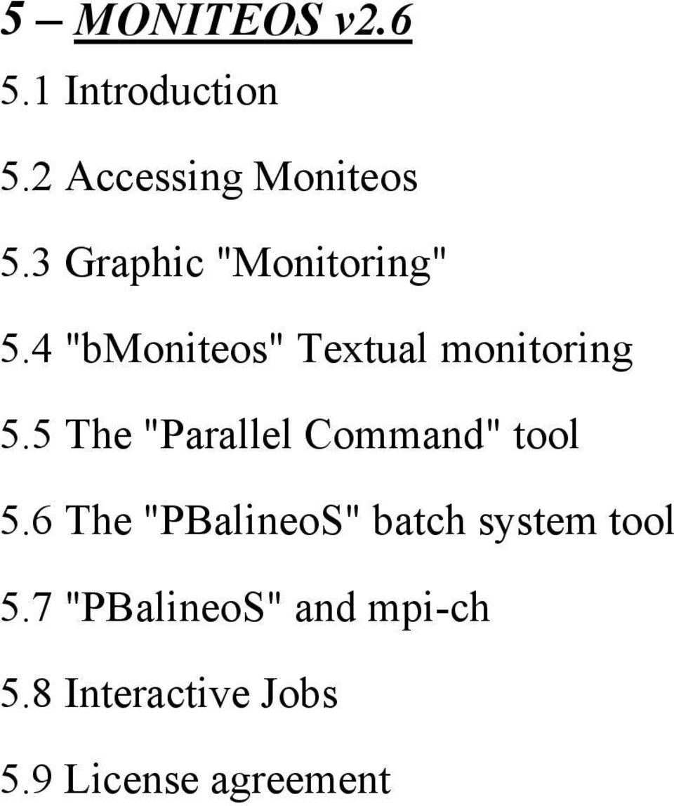 "5 The ""Parallel Command"" tool 5."