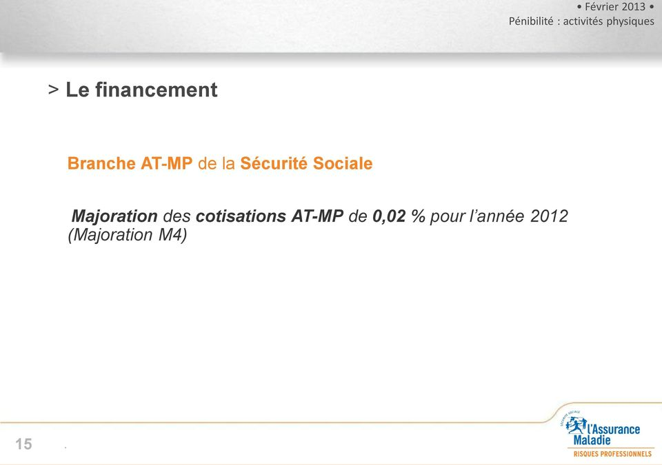 des cotisations AT-MP de 0,02 %