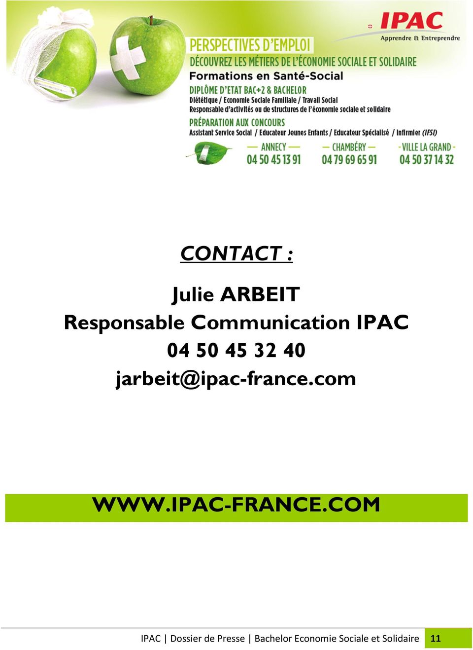 jarbeit@ipac-france.com WWW.IPAC-FRANCE.