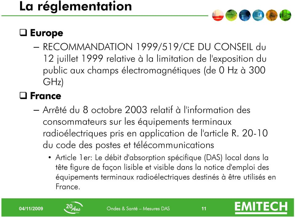 radioélectriques pris en application de l'article R.