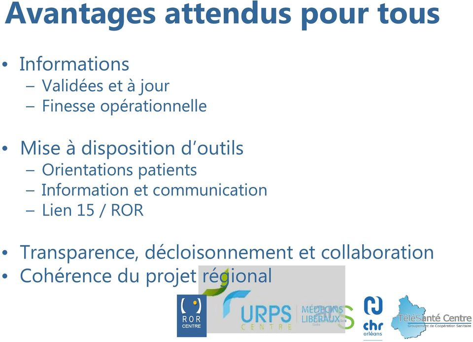 Orientations patients Information et communication Lien 15 /