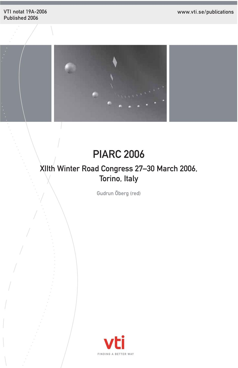 se/publications PIARC 2006 XIIth