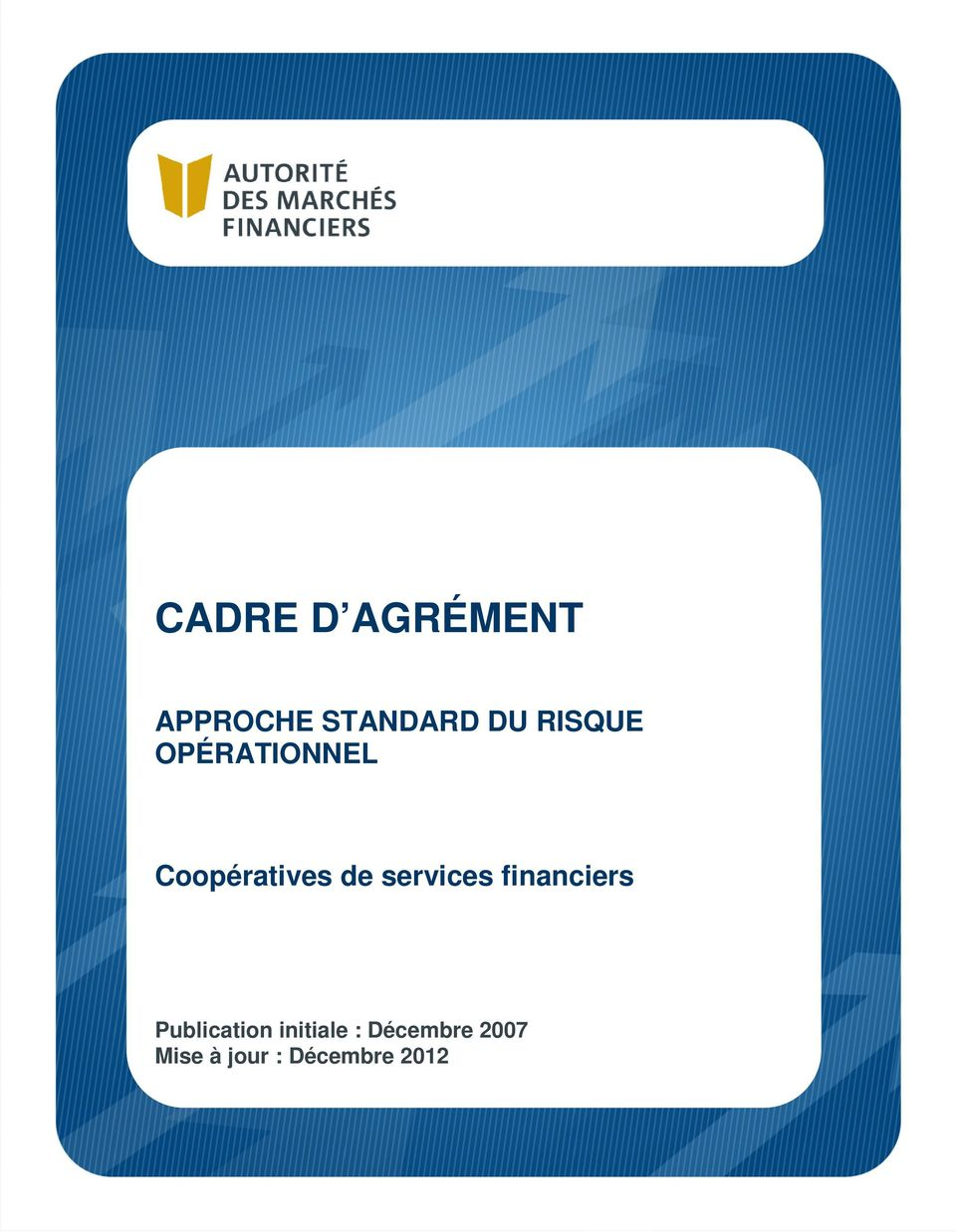 de services financiers Publication