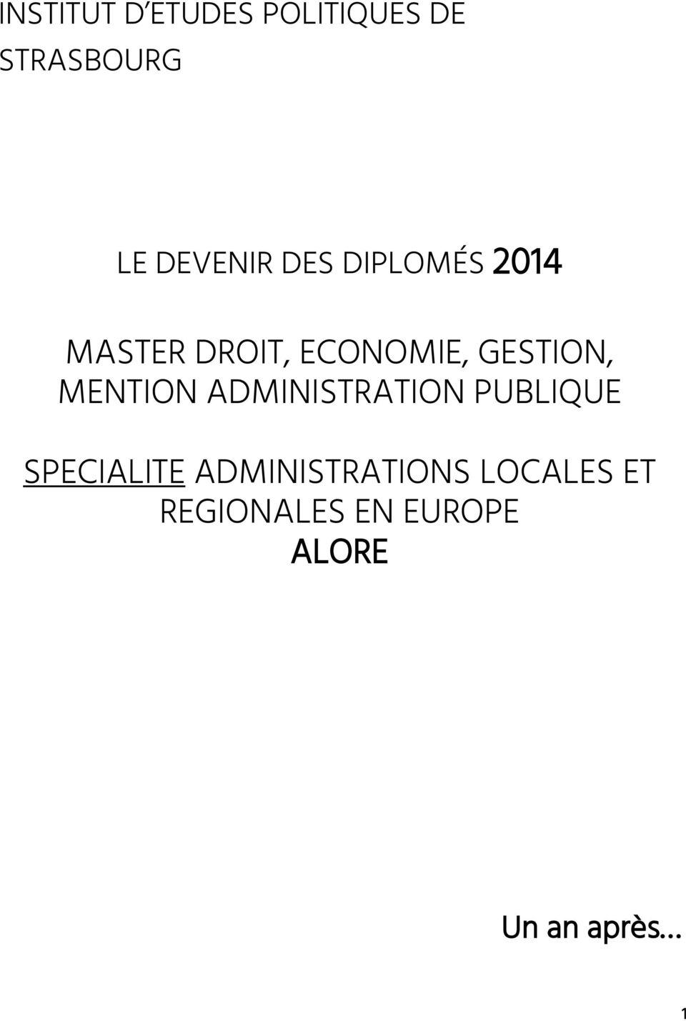 MENTION ADMINISTRATION PUBLIQUE SPECIALITE