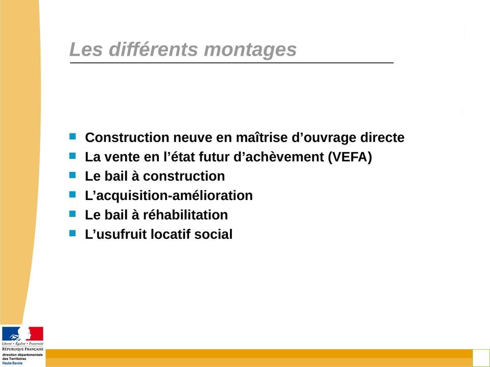 achèvement (VEFA) Le bail à construction L