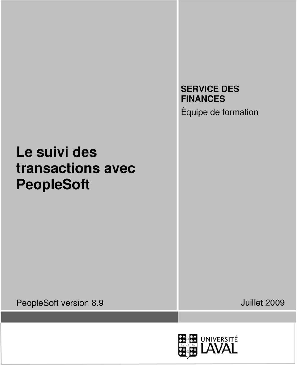 transactions avec PeopleSoft