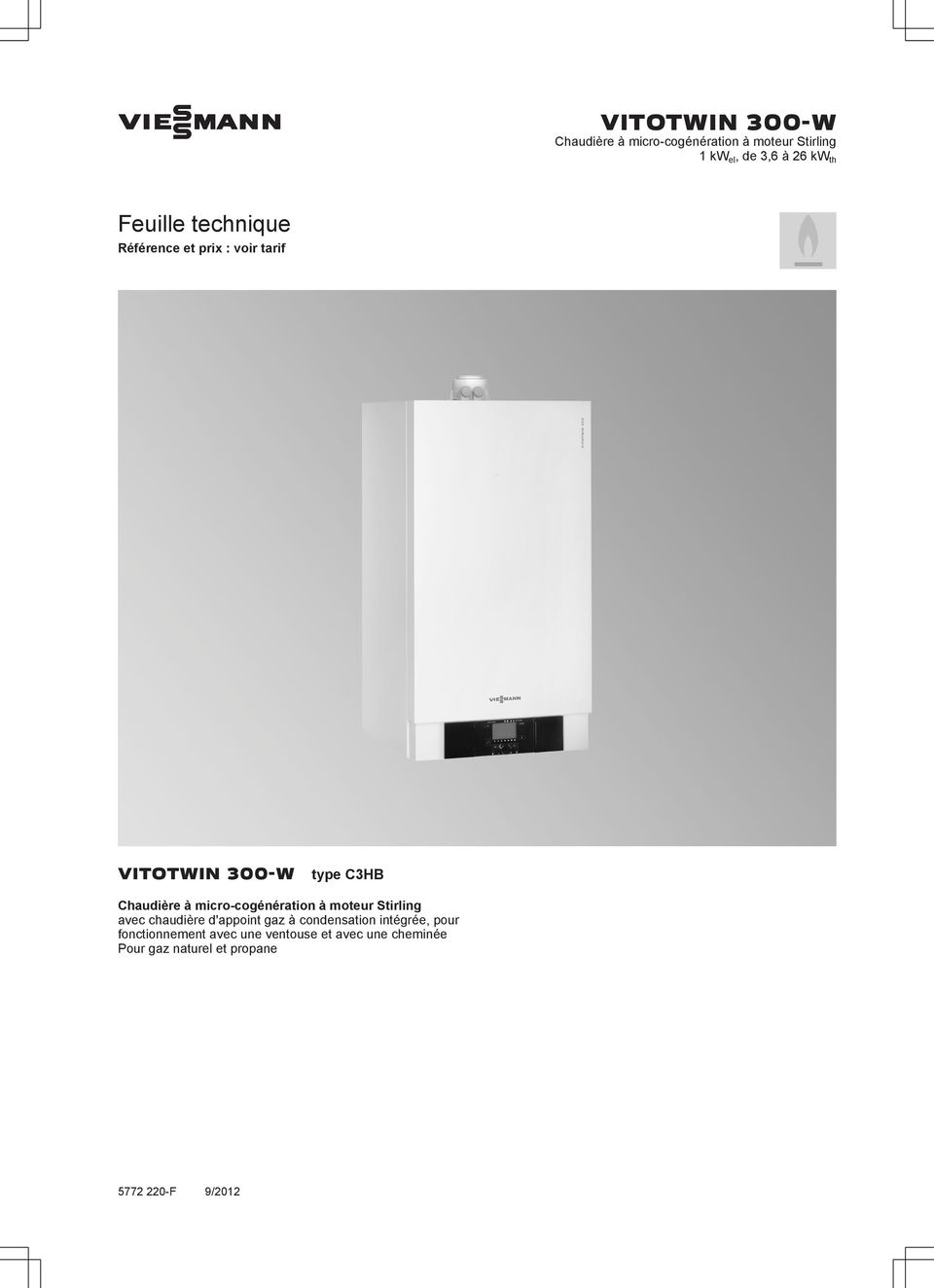 viesmann vitotwin 300 w chaudi re micro cog n ration. Black Bedroom Furniture Sets. Home Design Ideas