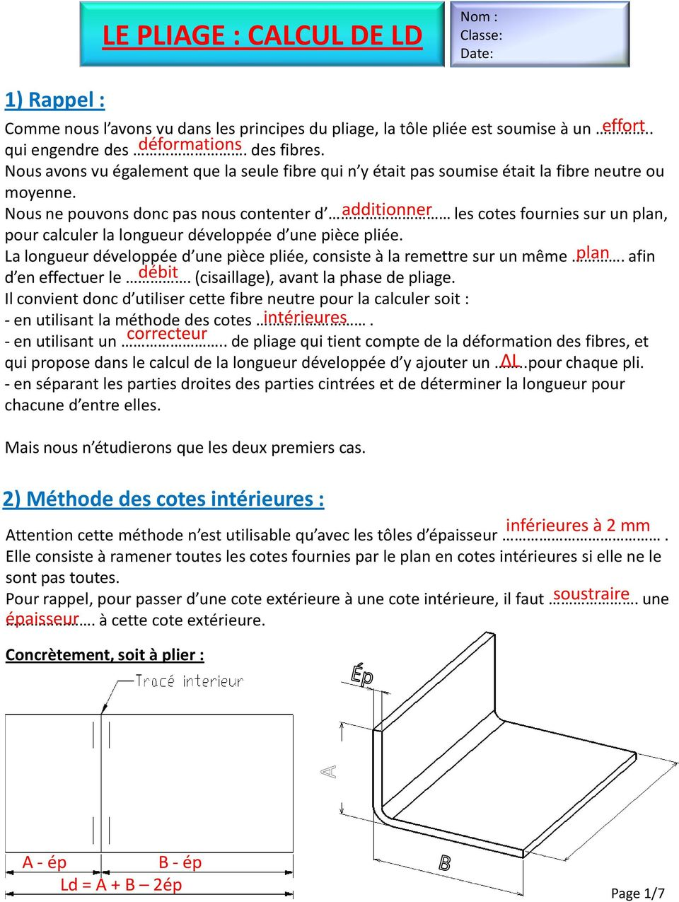le pliage calcul de ld pdf. Black Bedroom Furniture Sets. Home Design Ideas