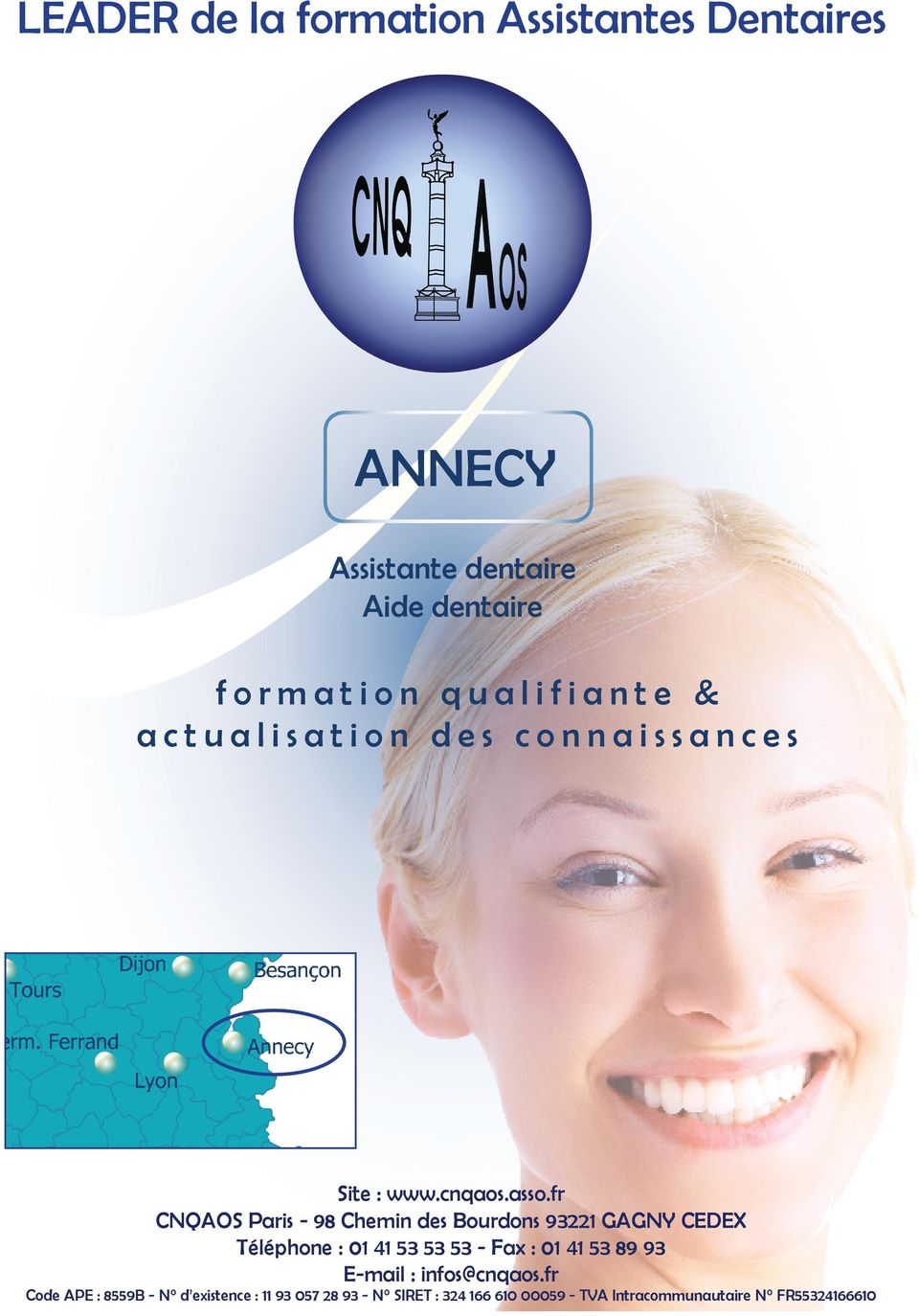 Annecy assistante dentaire aide dentaire formation - Grille des salaires des assistantes dentaires ...