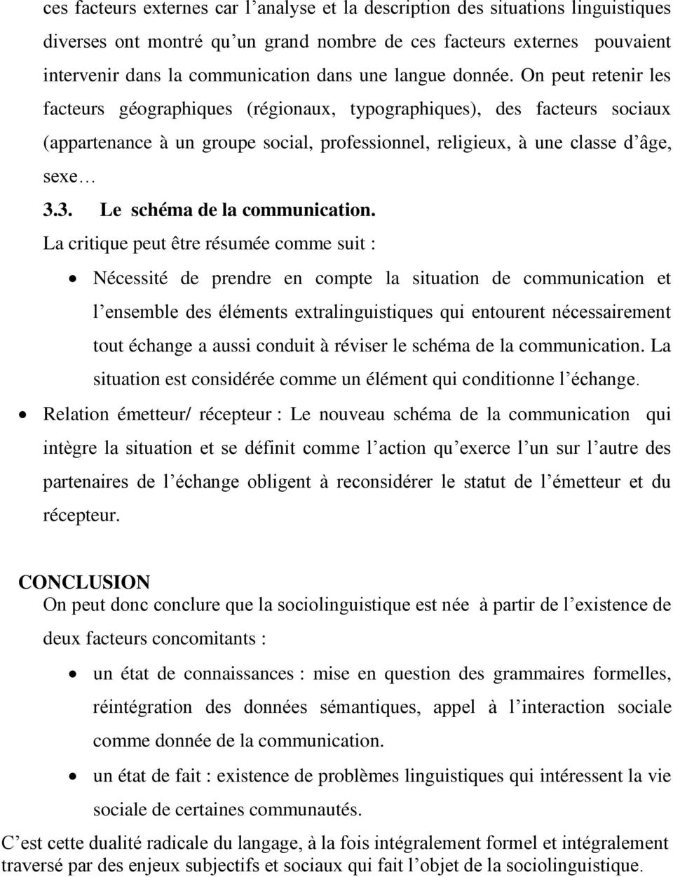 3. Le schéma de la communication.