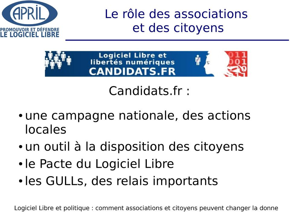 fr : une campagne nationale, des actions locales
