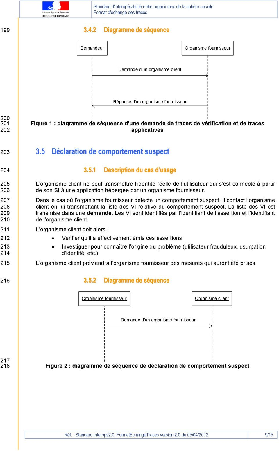 vérification et de traces applicatives 203 204 205