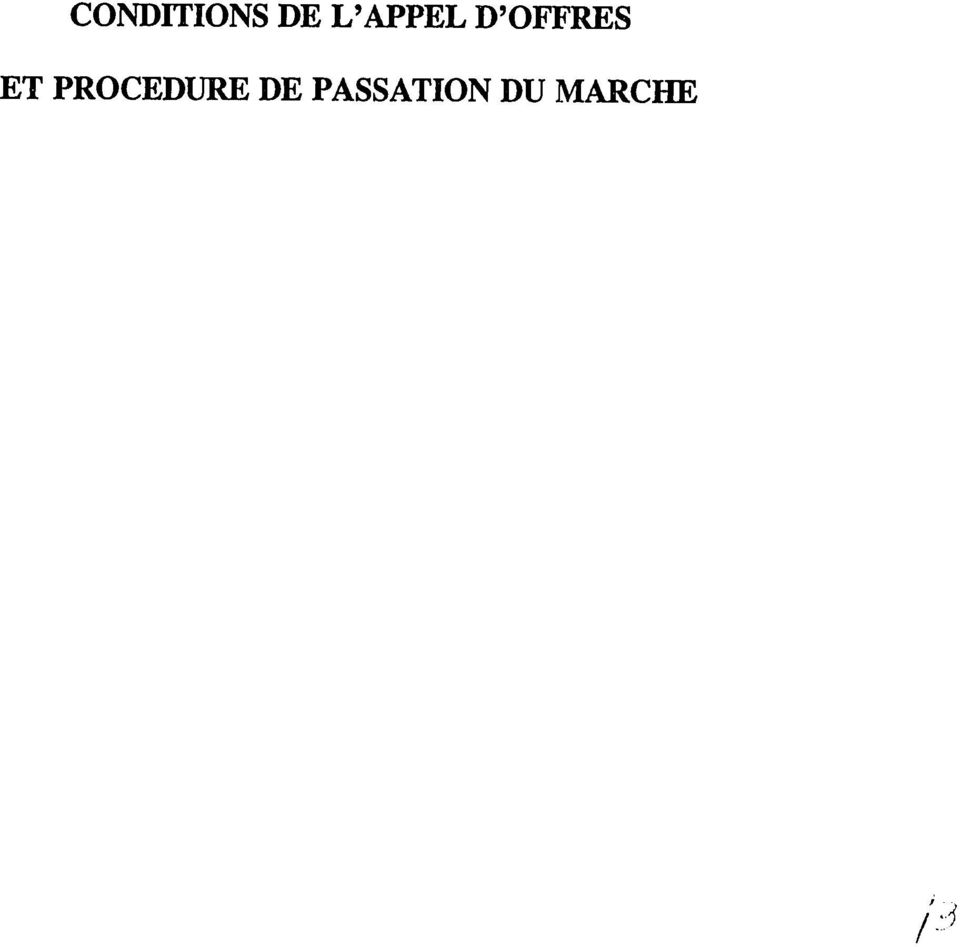 ET PROCEDURE DE