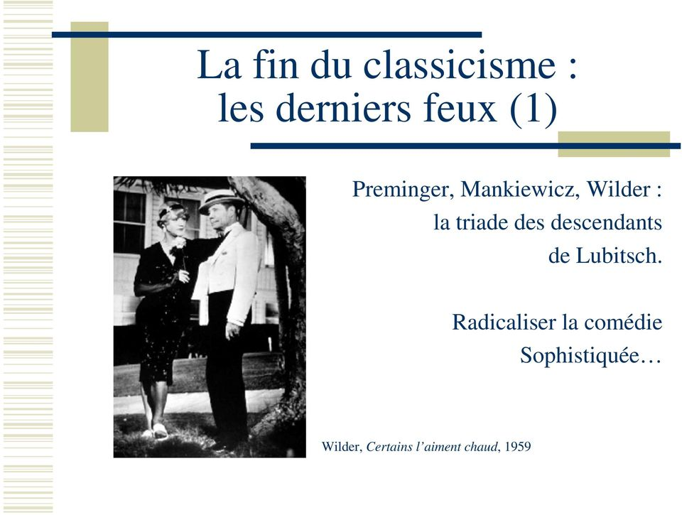 descendants de Lubitsch.